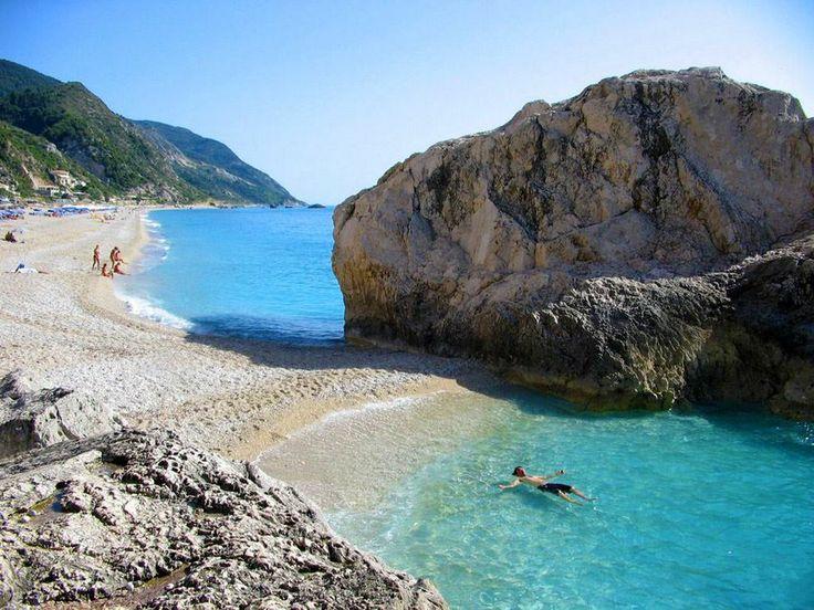A tiny private beach in Lefkada (Kathisma)