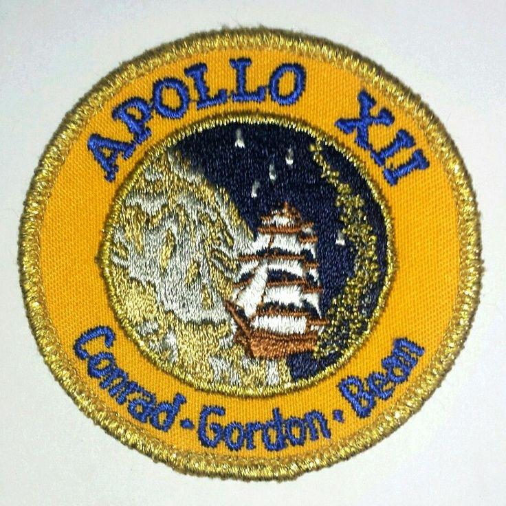 """Apollo XII 12 NASA Rocket Conrad Gordon Bean 3"""" Patch"""