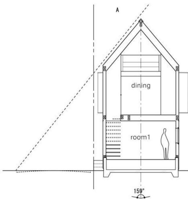 Este es el plano longitudinal de la casa.