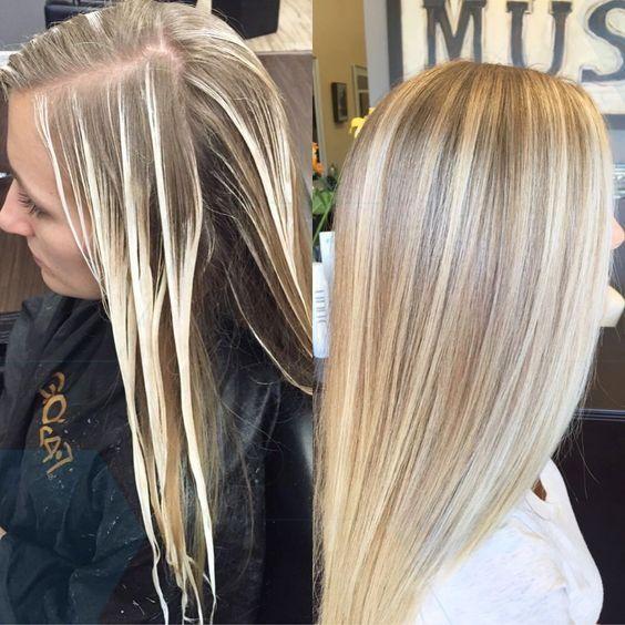 Großartig Unglaublich Shatush on dark hair before and after, #apres #before # hair #focus #frisuren