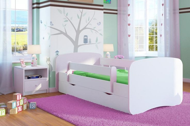 Dětská postel se zábranou Ourbaby - bílá