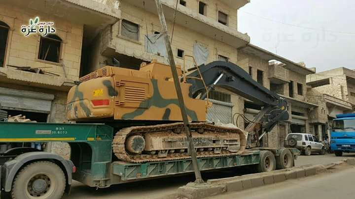 Turkish Military Vehicles in Darat Izza Heading To Seyh Akil Mountain West Of Aleppo
