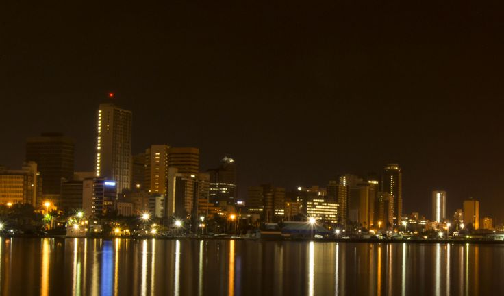 View from Durban harbour at 04h00 am