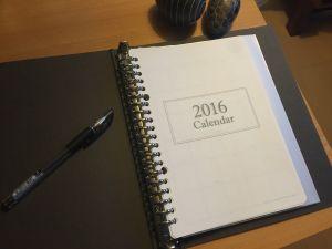 2016年のシステムノート(A5)として、スケジュール帳(2ページ/月)のテンプレートを作成しました。 只今、フリーで公開中です。