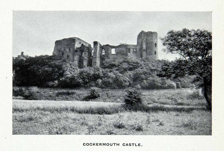1912 Print Ancient Norman Cockermouth Castle Ruins Lake District Cumbria XGCA7