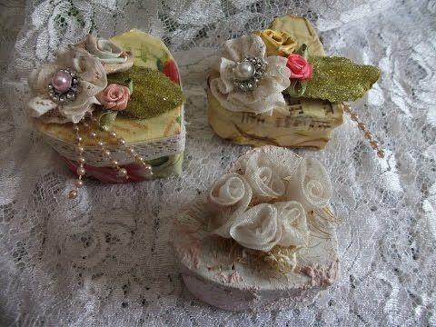 # Linha Casamento Caixa Coração Vintage Feito Com Caixa De Leite ♥