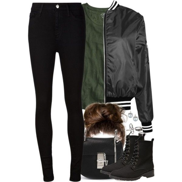 Slytherin Inspired Soccer Game Outfit by hpstyle on Polyvore featuring J.Crew, Boohoo, AG Adriano Goldschmied, Wet Seal, Chloé, Samira 13 and Mudd