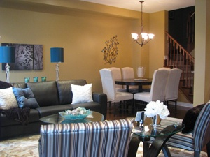 teal cream brown and tan living room living room