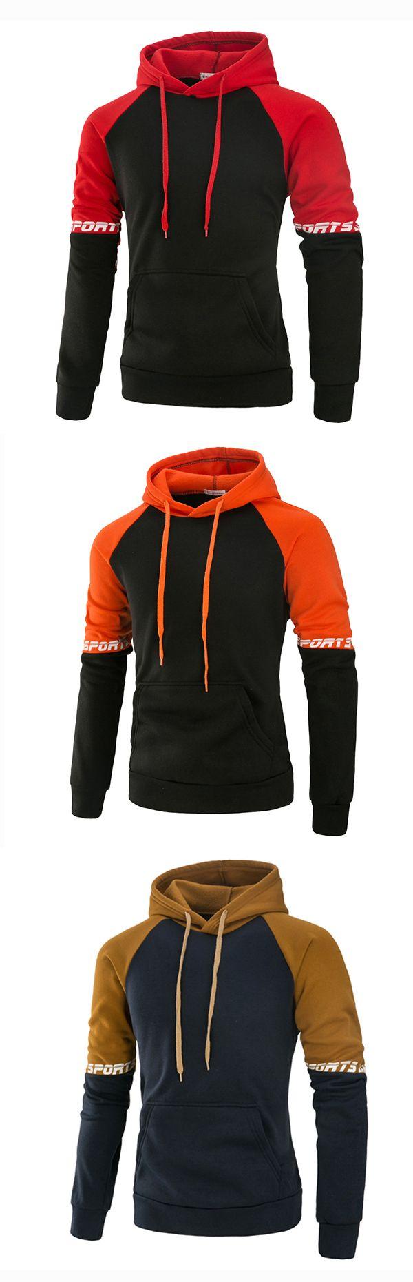 Mens Casual  Sport Hoodies: Front Big Pocket