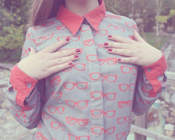Estampado hipster: Gafas para una camisa handmade