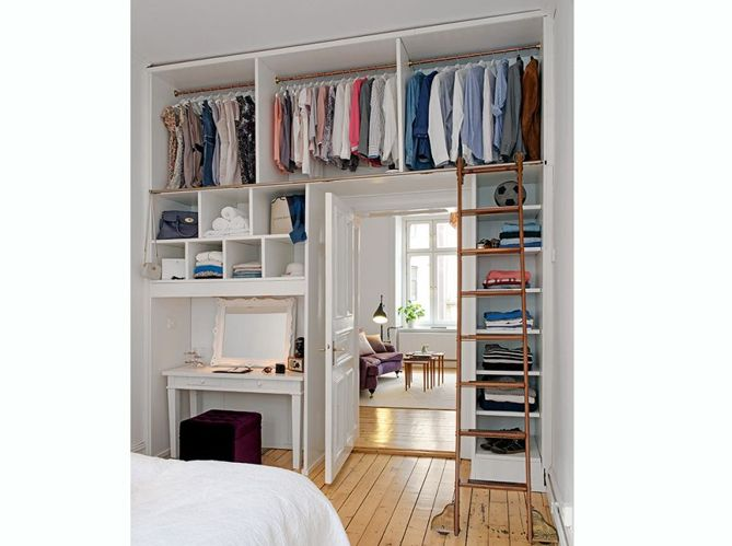 1000 id es sur le th me organiser des petits garde robes for Idee dressing petite chambre