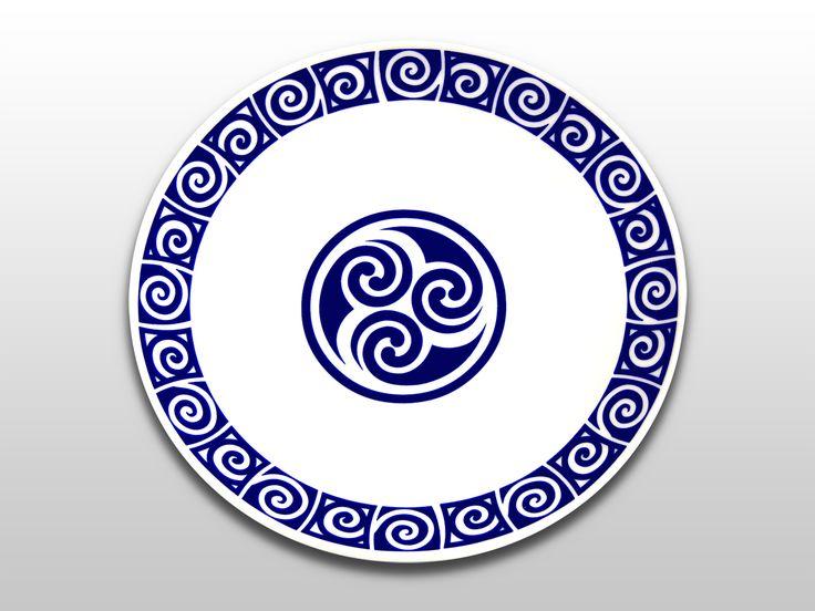 Plato 25cm con símbolo celta