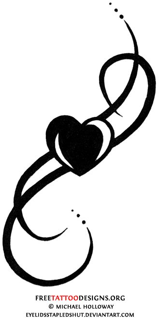 Tribal+Tattoo+Designs+for+Love | tribal heart tattoo done in simple black lines can be timeless and ...