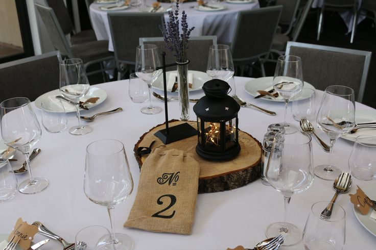 Table number decorations... December wedding 2016 at Peak Functions.