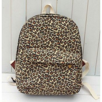 Vintage Leopard Print Canvas Backpack for only $29.90 ,cheap Fashion Backpacks - Fashion Bags online shopping,Vintage Leopard Print Canvas Backpack can be used school bag and leisure travel bag.