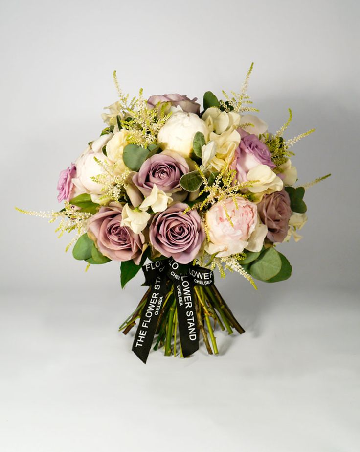 Amnesia Rose Bouquet - Amnesia roses, Astilbe, peonies (if available) and eucalyptus
