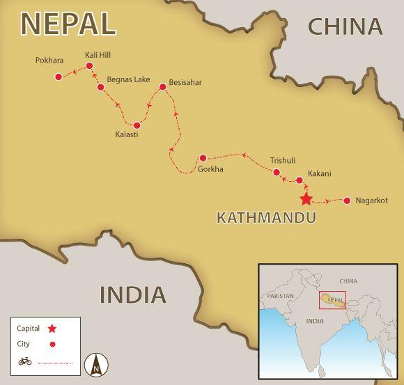 Mountain Bike Kathmandu to Pokhara