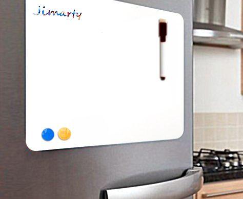 21*15 cm Doux Réfrigérateur Flexible Mini Tableau Blanc Babillard Notes Magnétiques Réfrigérateur Mémo Pad étanche avec marqueur et bouton