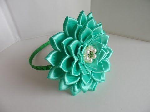 Брошь-Цветок из лент / Ribbon Flower Brooch / ✿ NataliDoma DIY - YouTube