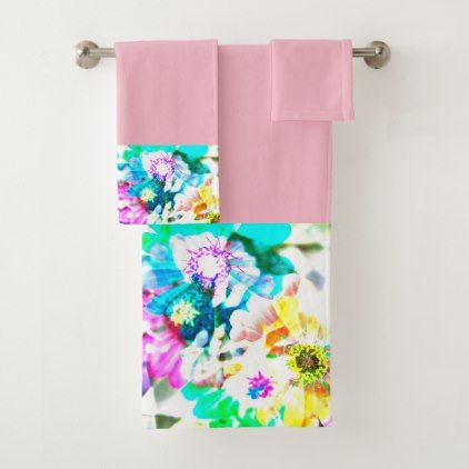 Sauvie Island Flowers Pink Towel Set - photography gifts diy custom unique special