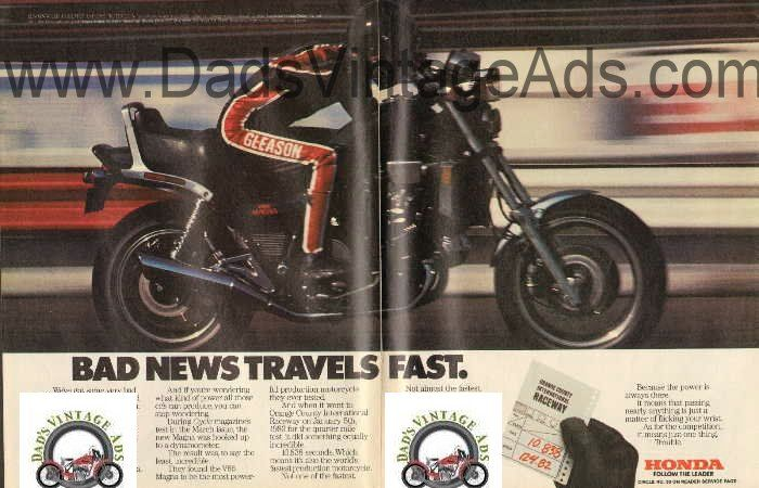1983 honda v65 magna 1100cc world's fastest production motorcycle