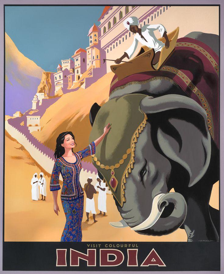 Vintage India travel poster featuring the famous Singapore Girl! #travelindia #hotelindia #hotelsgurgaon