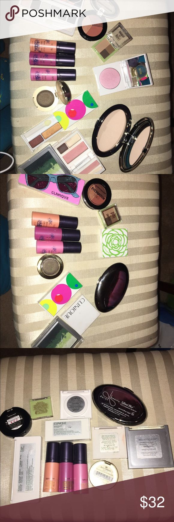 Make up bundle 😇 Never used, if any discoloration to the packaging it's from sitting in my make up drawer. :)  1 Clinique Eyeshadow mini palette  1 Clinique Eyeshadow duo 1 Clinique Blush  1 Clinique Eyeshadow & Blush combo 3 Tarte Blush stains  1 Milani Eyeshadow pod 1 Pixi mini eyebrow kit + more & samples Clinique Makeup Eyeshadow