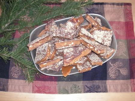 Article and Recipe Archive - Enstrom's Style Toffee Recipe with Picture... Yum yum yum  Laura's toffee