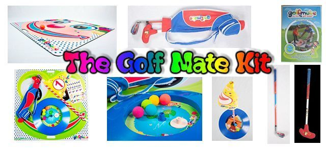 Golf Mate – My First Golf Lesson, is first of its kind 14 piece golf training kit for children ages 2-5. The Golf Kit is designed to introduce golfs basic fundamentals to the child in a fun and interactive way....  www.golfmate.org #GolfBasics101+1