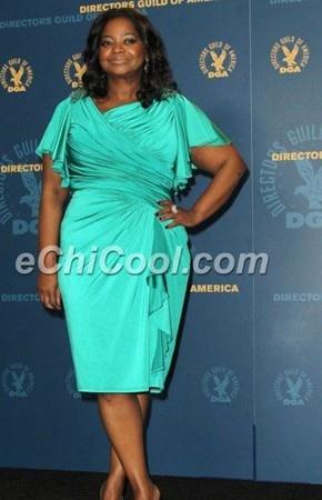 Octavia Spencer Plus Size Cocktail Dress Directors Guild Awards Dresses ...    echicool.com