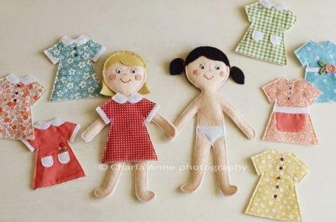 Куколки из фетра. Выкройки. | Мир куклы