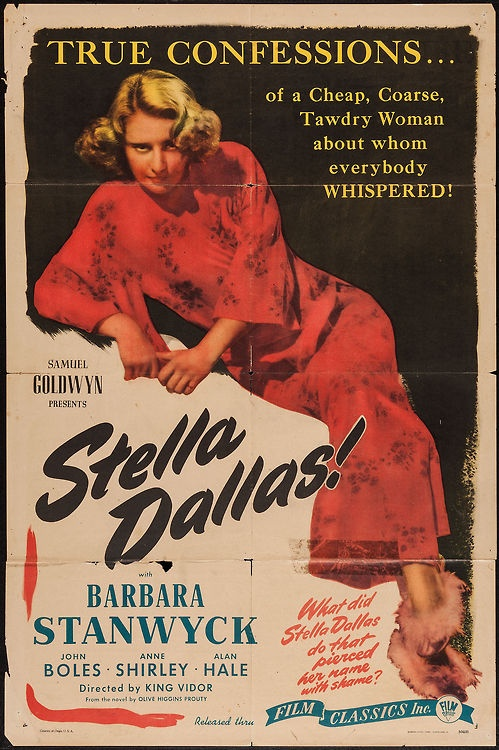 "Movie poster, ""Stella Dallas"" starring Barbara Stanwyck"