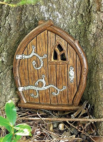 Small wooden door fairy garden fairy garden ideals for Wooden fairy doors
