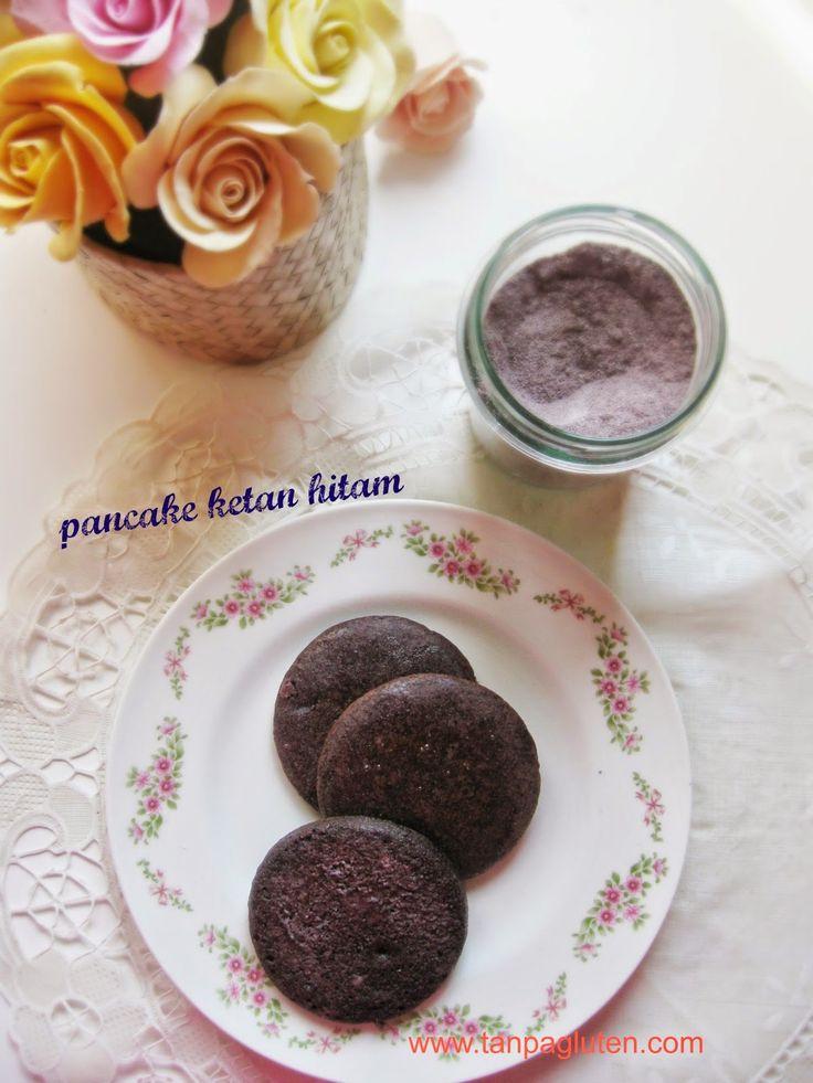 resep bebas gluten: Pancake vegan ketan hitam gluten free
