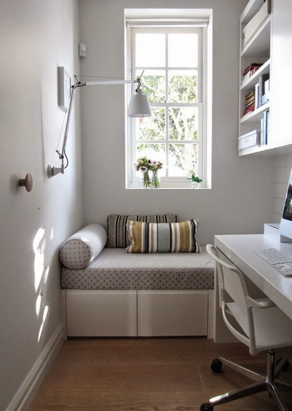 Home Office - How Simple Design Ideas Create a Big Impact in a Small Home Office | All About Women's Things