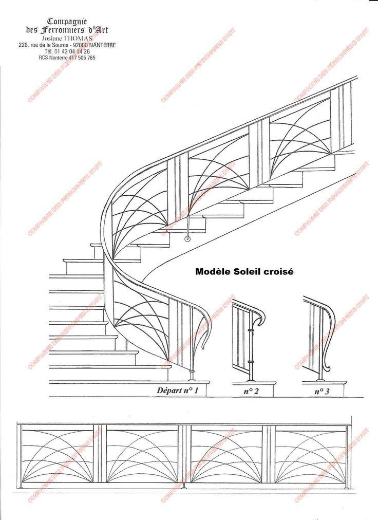 les 7 meilleures images du tableau escaliers sur pinterest escaliers rampes et fer. Black Bedroom Furniture Sets. Home Design Ideas