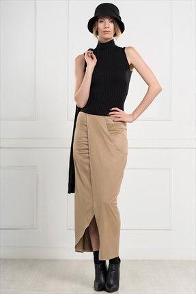 Ironi ∙ Kadın Tekstil - Bej Etek 2726-1076 sadece 49,99TL ile Trendyol da