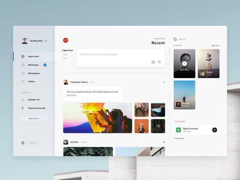 Facebook macos3l Dashboard design, Web layout design