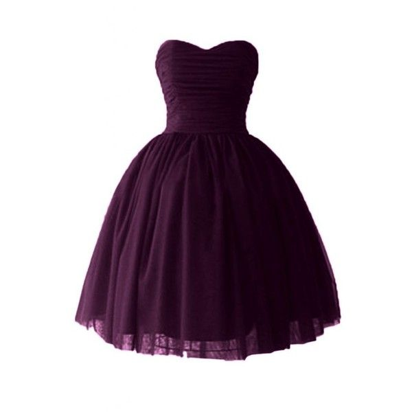 Victoria Dress Ball Gown Sweetheart Cocktail Dresses Satin Homecoming... ($20) ❤ liked on Polyvore featuring dresses, purple, sweet heart dress, sweetheart dress, cocktail homecoming dresses, sweetheart neckline cocktail dress and purple satin dress