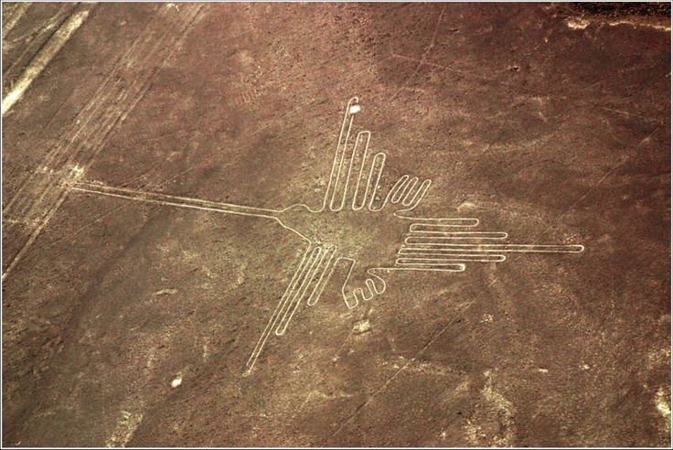 Earth Drawing of a Hummingbird, Nazca, Peru, c 400CE