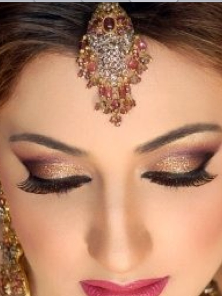 Beautiful middle eastern style makeup