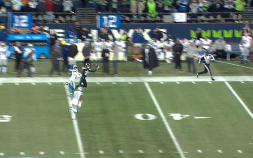 Raible Call of the Game: Paul Richardson Catch Watch as Paul Richardson makes his second one-handed catch of the night against the Detroit Lions.  Radio call by Steve Raible.