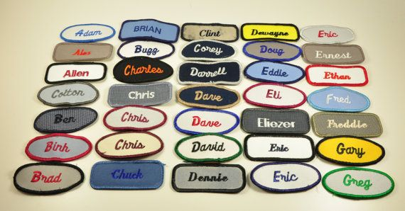 Vintage Name Patch-Name Patches-Bowling by TuesdayBlueberries