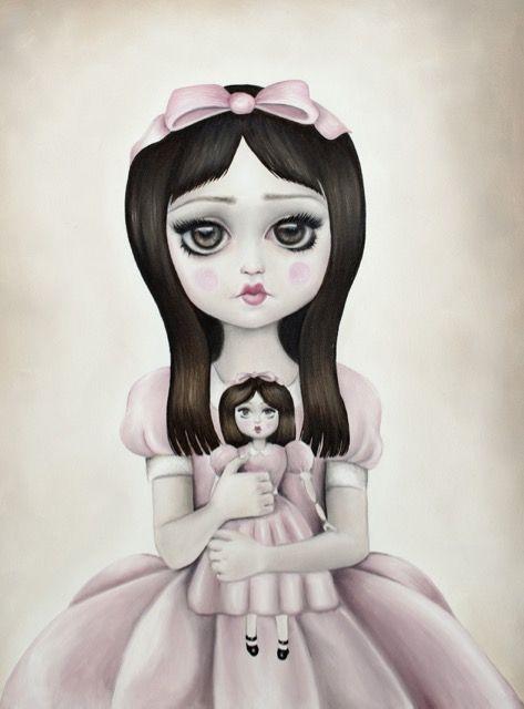 The Haunted Doll, Art, Big eyes, lolita, baby doll dress, Magic, Artist Autumn