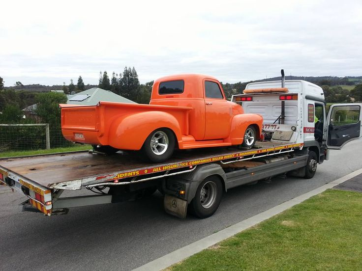 A brilliant Chev towed by McCallum Towing