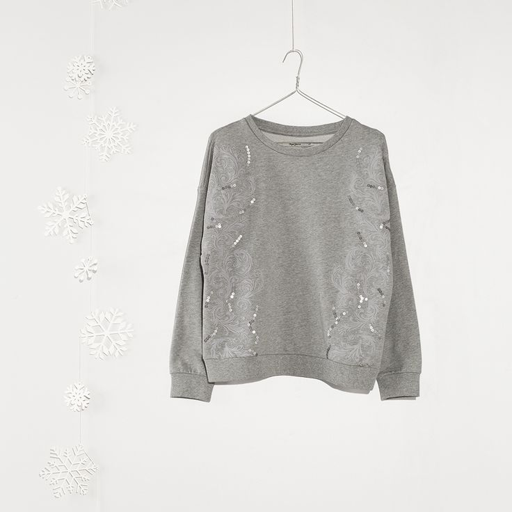 #jeansstore #fallwinter14 #fall #winter #autumn #autumnwinter14 #onlinestore #online #store #shopnow #shop #fashion #womencollection #women #sweatshirts #grey #marl #pepejeans #regularfit #longsleeve #cotton #crewneck #sale