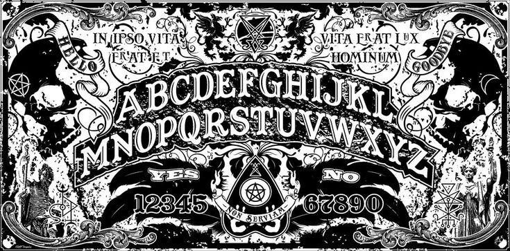 Ouija Board Wallpaper | Ouija Board Art Print Non serviam.jpg ouija board.