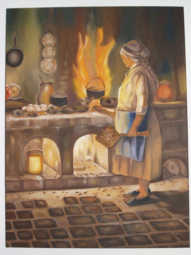 oleo sobre lienzo por anac, el original es del pintor Colombiano Germán Vieco