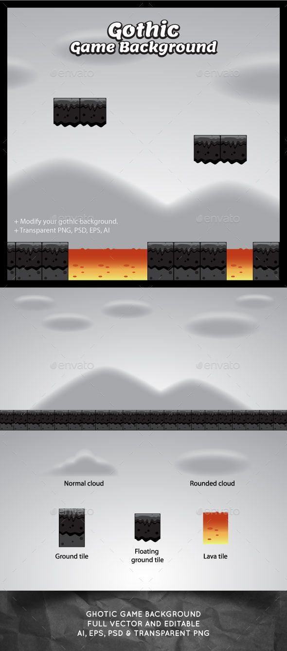 Gothic Game Background — Photoshop PSD #asset #tileable • Available here → https://graphicriver.net/item/gothic-game-background/10934515?ref=pxcr