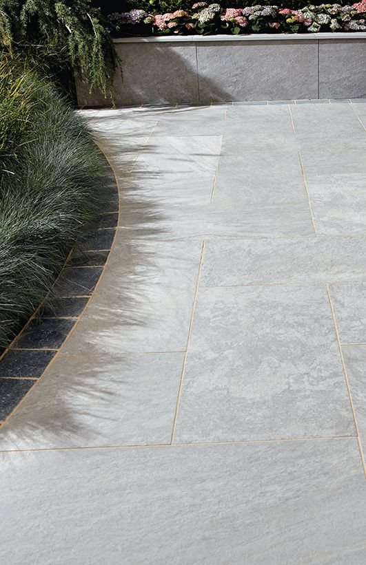 Slate Patio Slabs >> Vitripiazza Nuvola Porcelain Paving | Landscaping | Patio ...